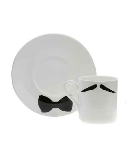Peter Ibruegger(ピーター イーブルガ)のEspresso Cup & Saucer Maurice Poirot-WHITE(キッチン/kitchen)-O05-W-4 詳細画像1