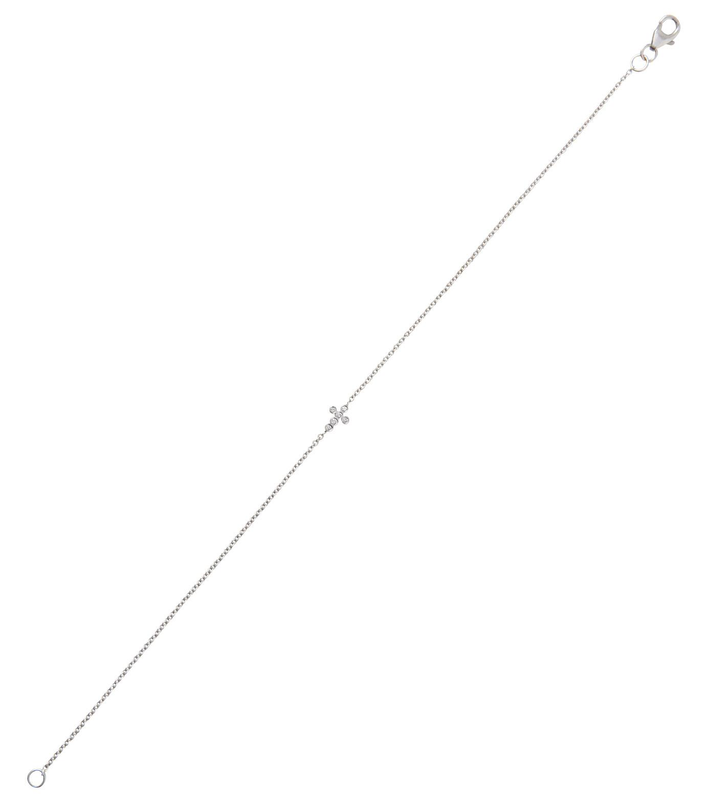Ileana Makri(イリーナ マクリ)のMini Cross Bracelet-WHITE-O117-01-001-4 拡大詳細画像2