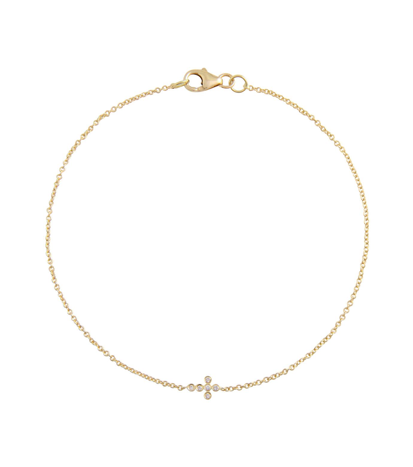 Ileana Makri(イリーナ マクリ)のMini Cross Bracelet-GOLD-O117-02-001-2 拡大詳細画像1