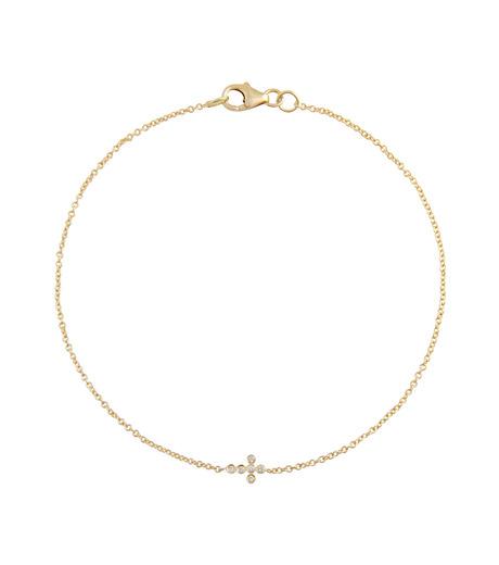 Ileana Makri(イリーナ マクリ)のMini Cross Bracelet-GOLD-O117-02-001-2 詳細画像1