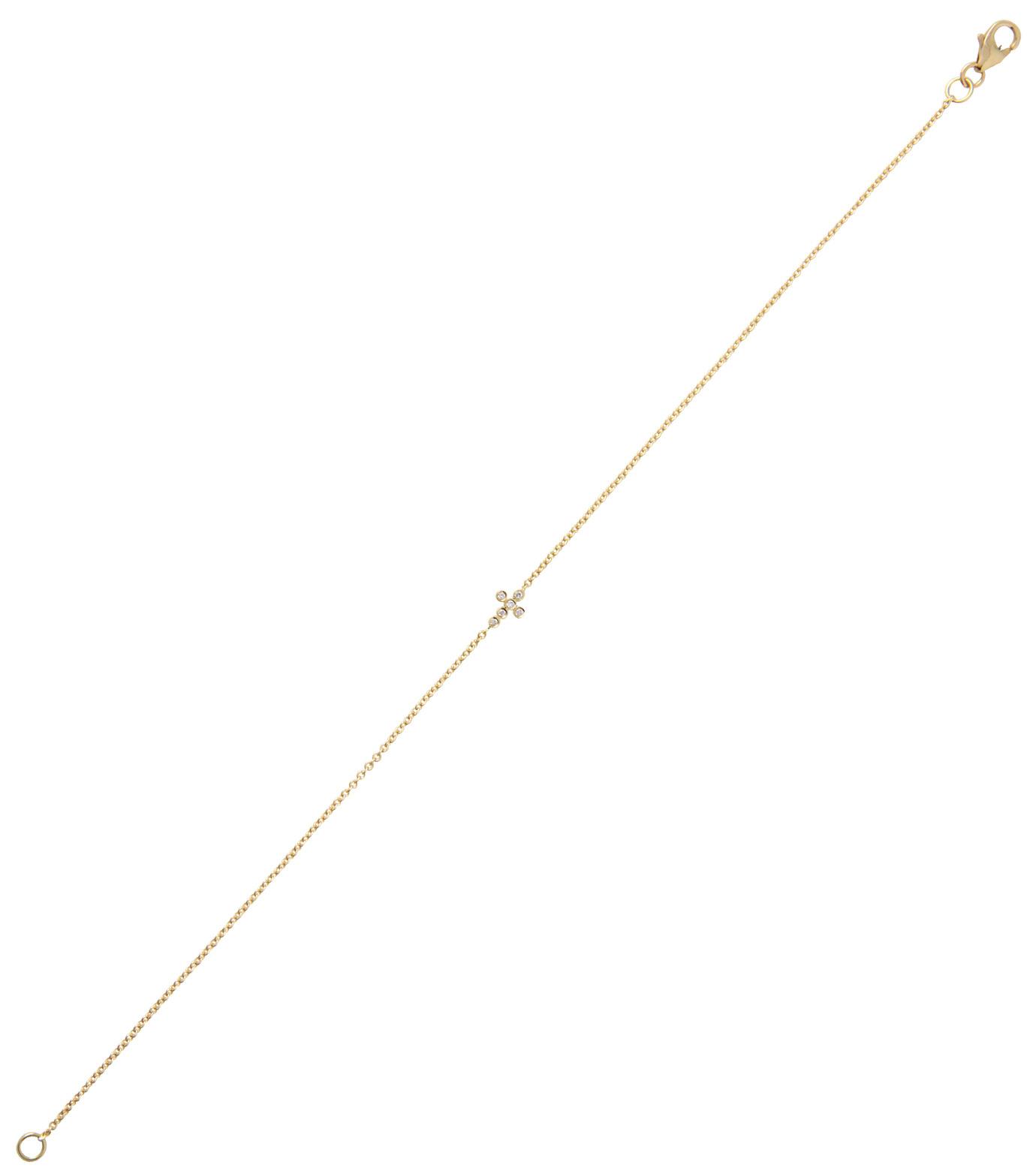 Ileana Makri(イリーナ マクリ)のMini Cross Bracelet-GOLD-O117-02-001-2 拡大詳細画像2