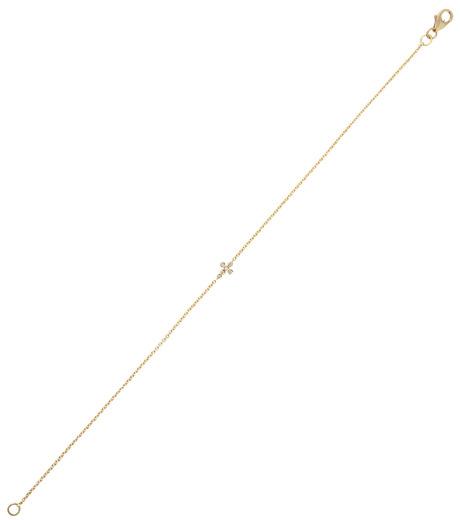 Ileana Makri(イリーナ マクリ)のMini Cross Bracelet-GOLD-O117-02-001-2 詳細画像2