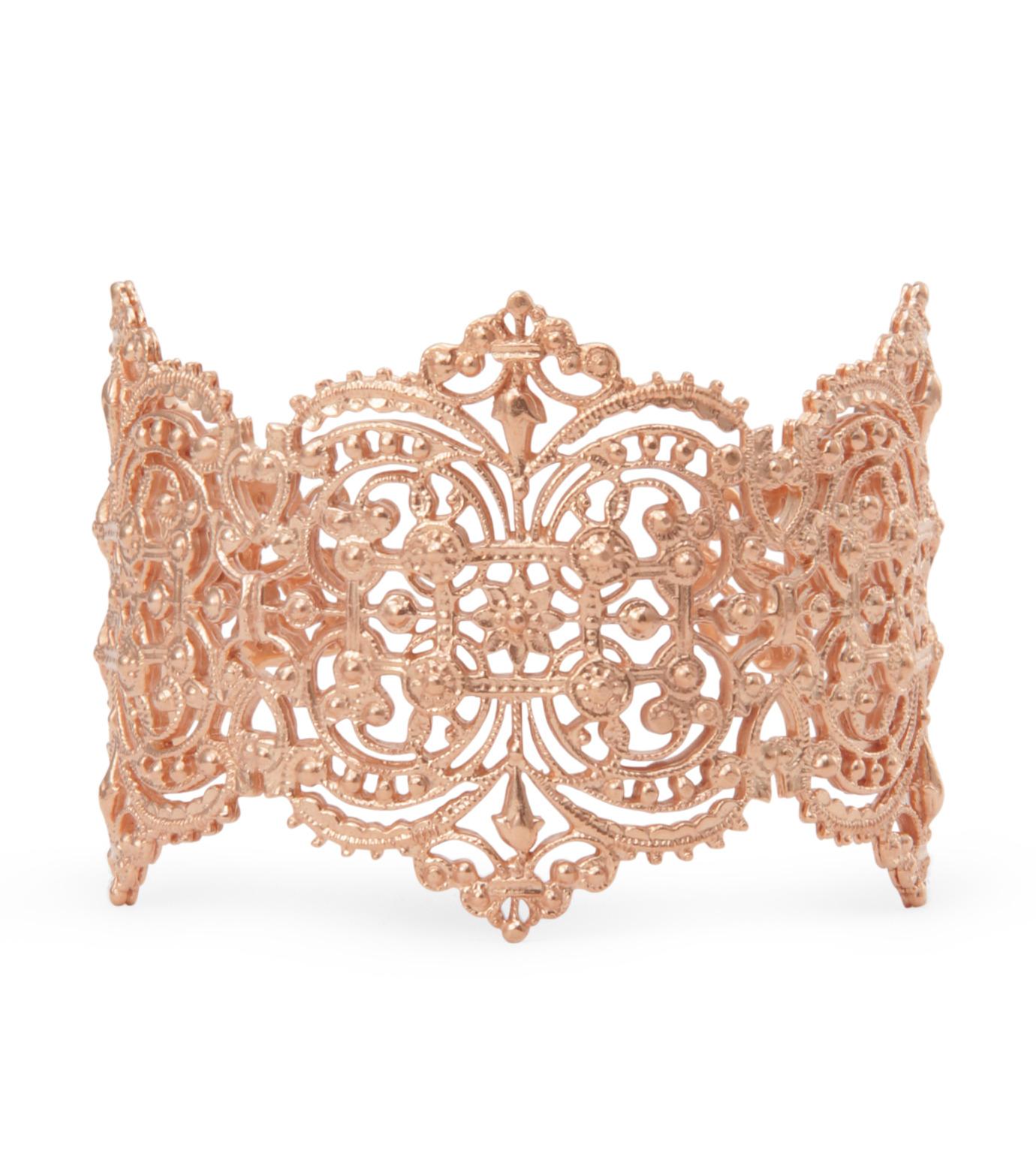 I AM by Ileana Makri(アイ アム バイ イリーナ マクリ)のChantilly Lace Cuff-ROSE(ブレスレット/bracelet)-O238-43-099-75 拡大詳細画像1