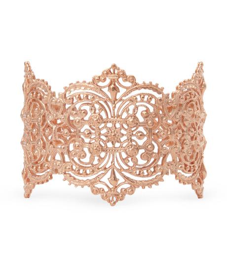 I AM by Ileana Makri(アイ アム バイ イリーナ マクリ)のChantilly Lace Cuff-ROSE(ブレスレット/bracelet)-O238-43-099-75 詳細画像1