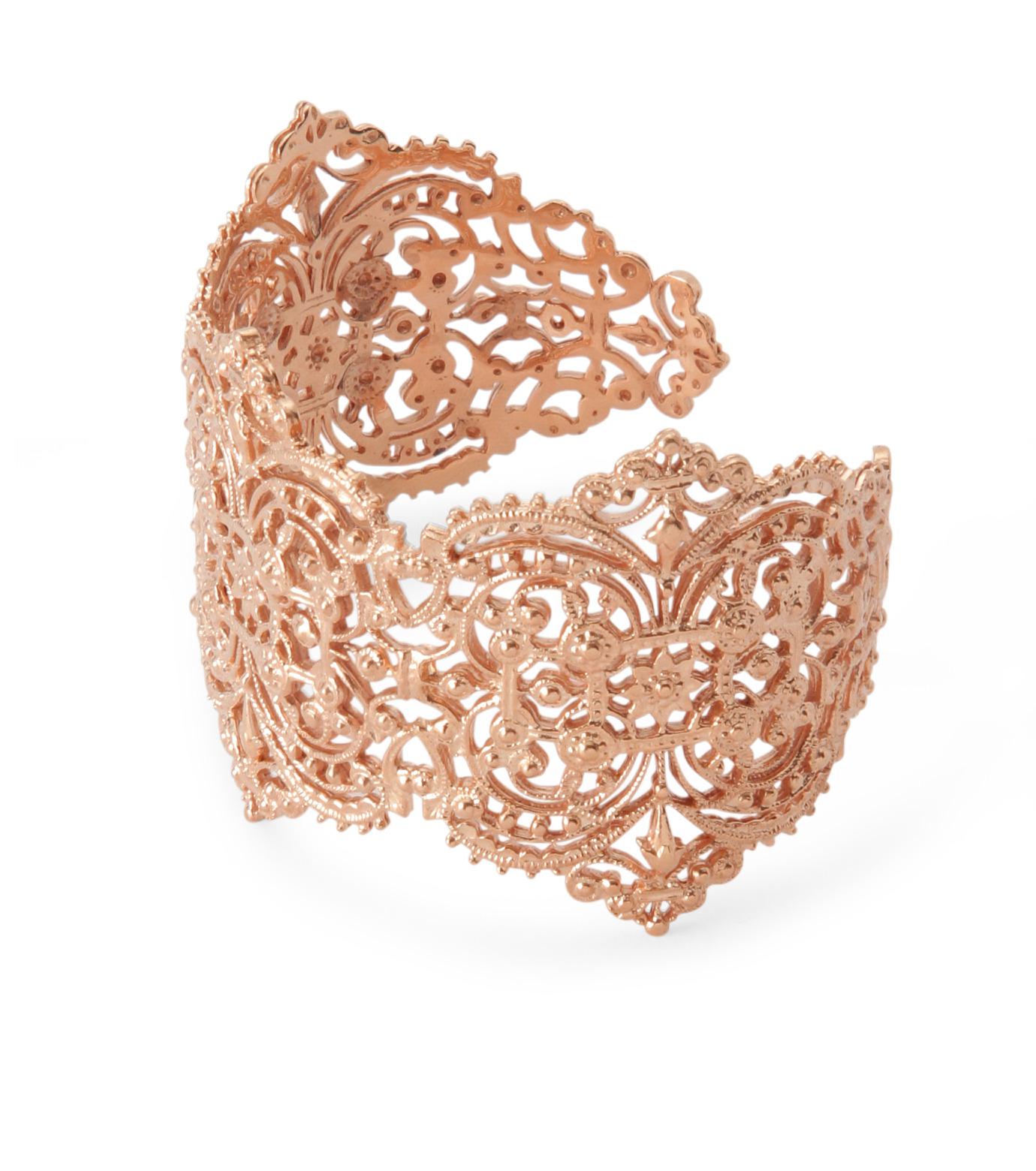 I AM by Ileana Makri(アイ アム バイ イリーナ マクリ)のChantilly Lace Cuff-ROSE(ブレスレット/bracelet)-O238-43-099-75 拡大詳細画像2
