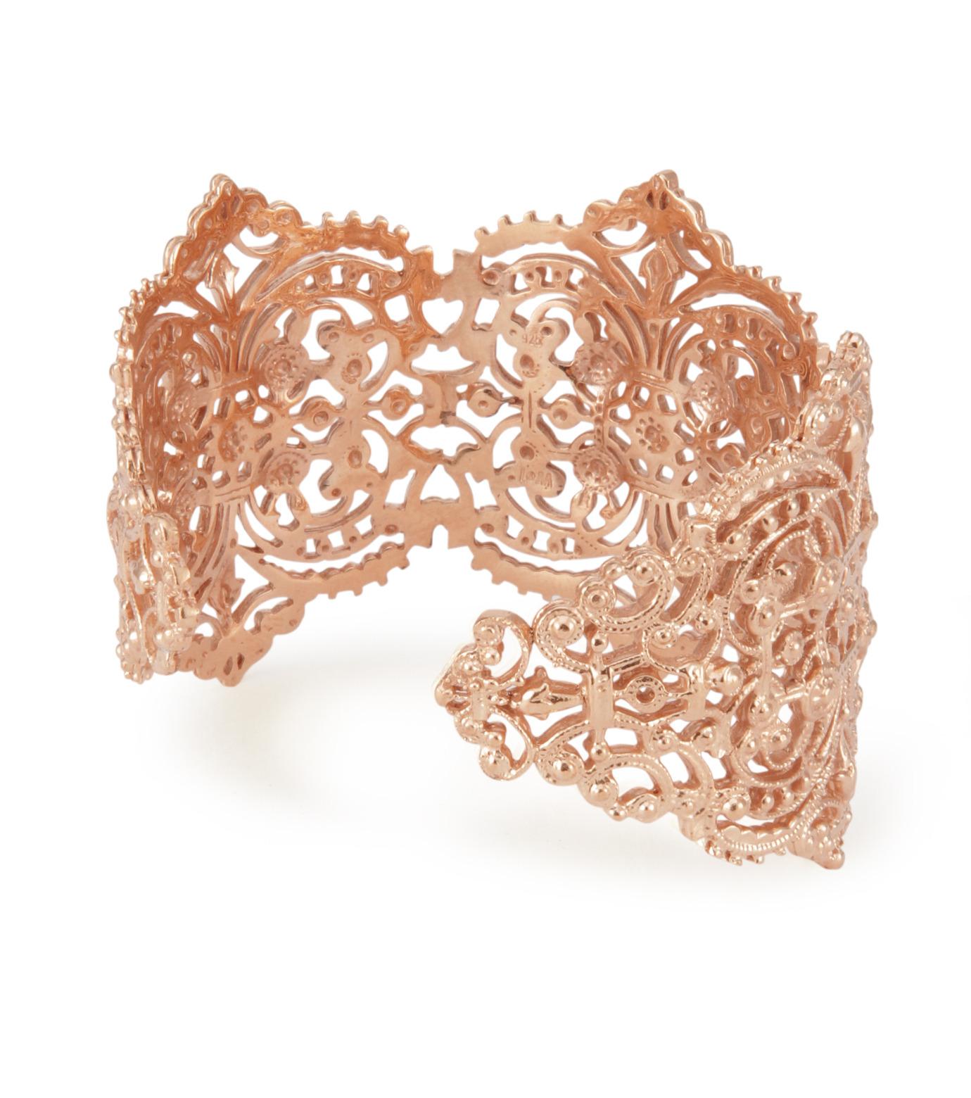 I AM by Ileana Makri(アイ アム バイ イリーナ マクリ)のChantilly Lace Cuff-ROSE(ブレスレット/bracelet)-O238-43-099-75 拡大詳細画像3