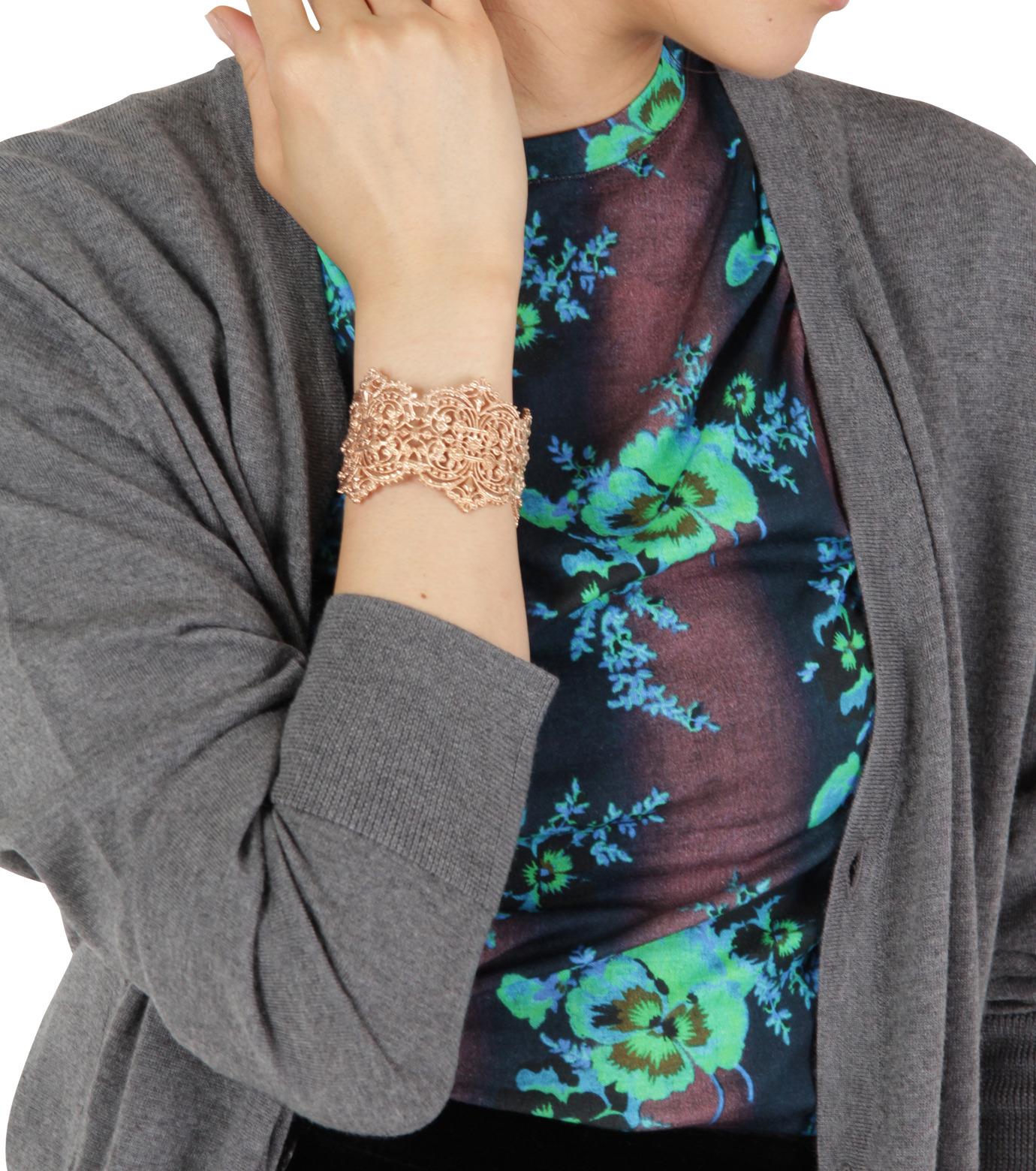 I AM by Ileana Makri(アイ アム バイ イリーナ マクリ)のChantilly Lace Cuff-ROSE(ブレスレット/bracelet)-O238-43-099-75 拡大詳細画像4