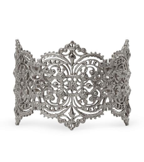 I AM by Ileana Makri(アイ アム バイ イリーナ マクリ)のChantilly Lace Cuff-GUNMETAL(ブレスレット/bracelet)-O238-45-099-6 詳細画像1