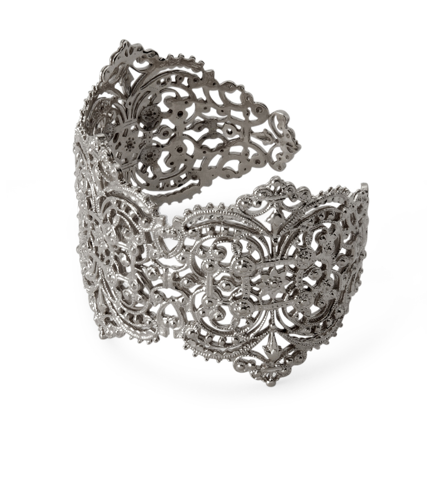 I AM by Ileana Makri(アイ アム バイ イリーナ マクリ)のChantilly Lace Cuff-GUNMETAL(ブレスレット/bracelet)-O238-45-099-6 拡大詳細画像2