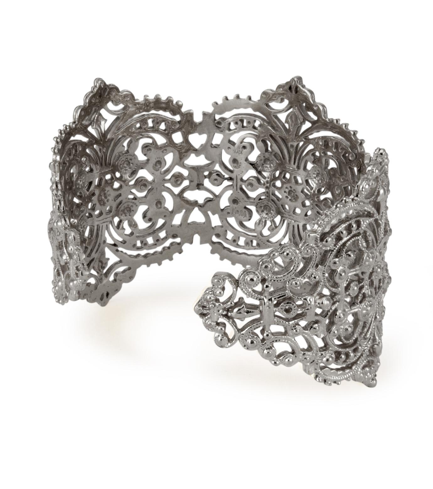 I AM by Ileana Makri(アイ アム バイ イリーナ マクリ)のChantilly Lace Cuff-GUNMETAL(ブレスレット/bracelet)-O238-45-099-6 拡大詳細画像3