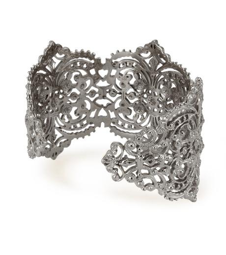 I AM by Ileana Makri(アイ アム バイ イリーナ マクリ)のChantilly Lace Cuff-GUNMETAL(ブレスレット/bracelet)-O238-45-099-6 詳細画像3
