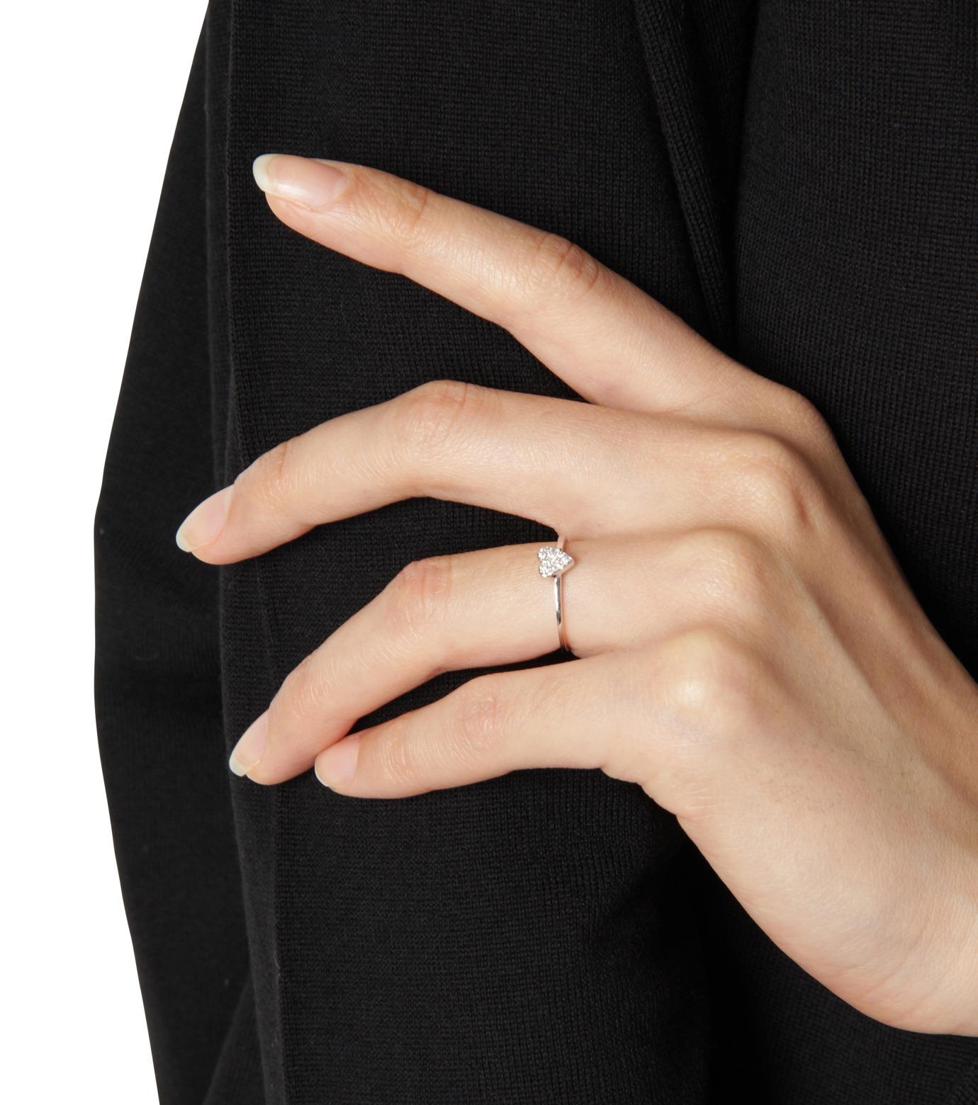 Ileana Makri(イリーナ マクリ)のLove Ring White Gold-Diamond-SILVER(リング/ring)-O272-01-001-1 拡大詳細画像4