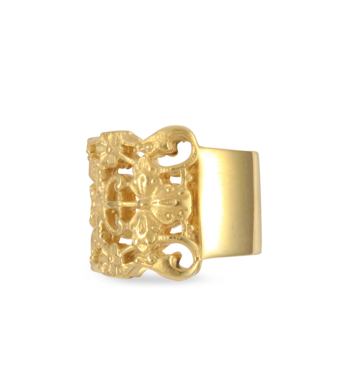 I AM by Ileana Makri(アイ アム バイ イリーナ マクリ)のMaple Flower Ring-GOLD(リング/ring)-O338-42-099-2 拡大詳細画像2