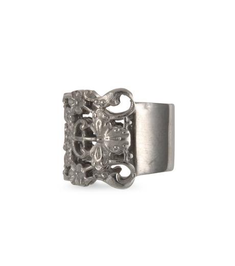 I AM by Ileana Makri(アイ アム バイ イリーナ マクリ)のMaple Flower Ring-GUNMETAL(リング/ring)-O338-45-099-6 詳細画像2