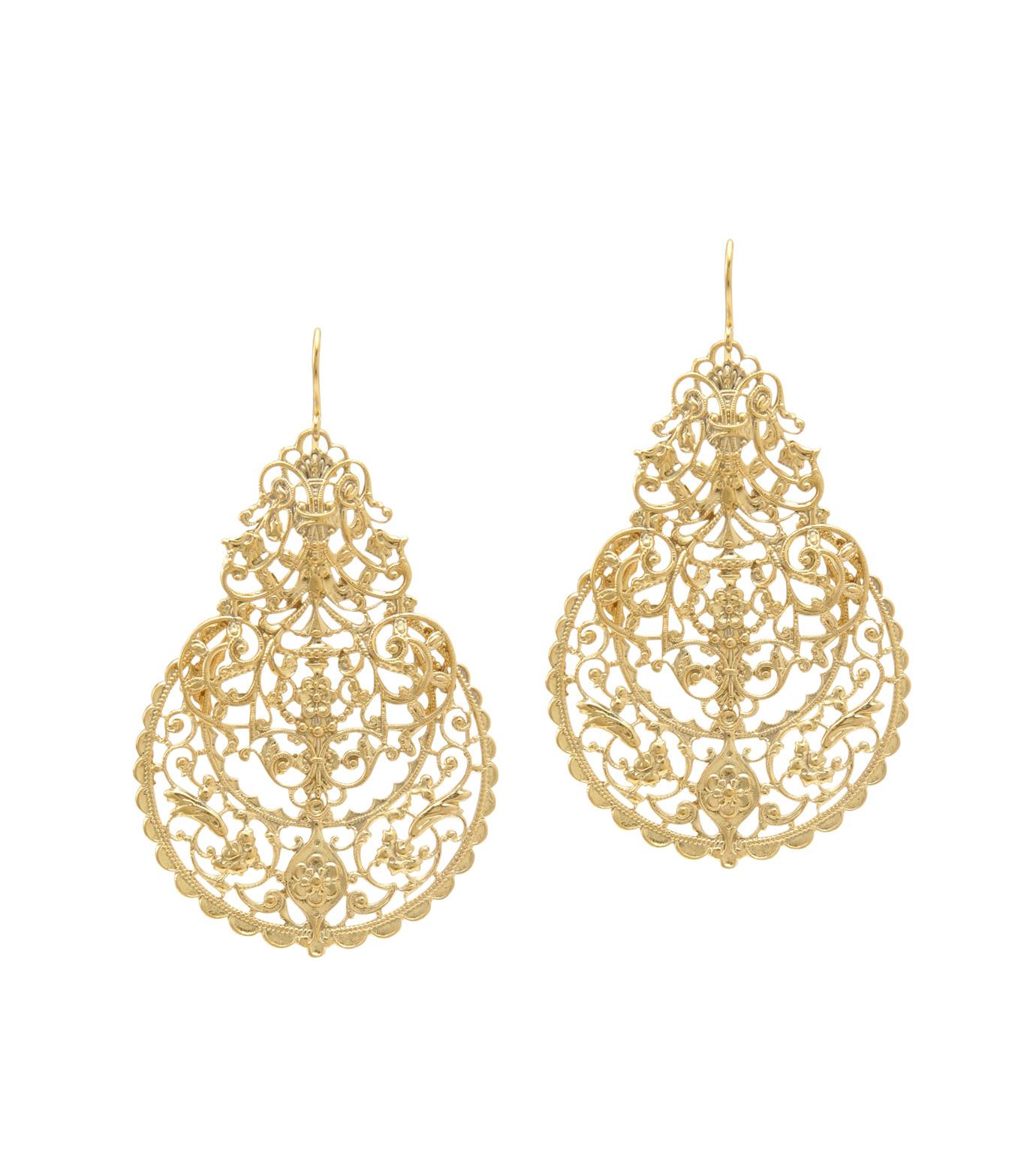 I AM by Ileana Makri(アイ アム バイ イリーナ マクリ)のAntoinette Earrings-GOLD-O489-42-099-2 拡大詳細画像1