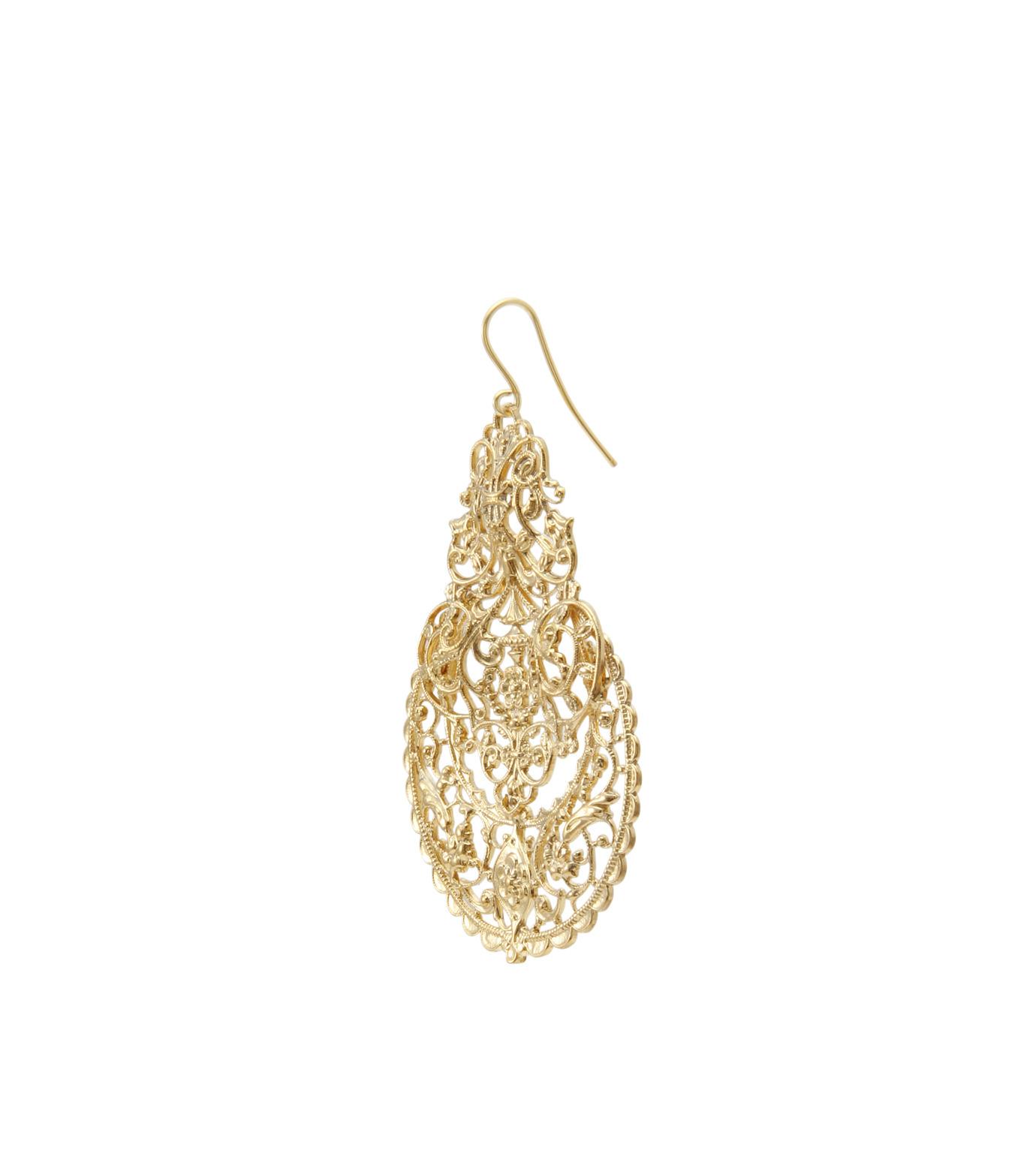 I AM by Ileana Makri(アイ アム バイ イリーナ マクリ)のAntoinette Earrings-GOLD-O489-42-099-2 拡大詳細画像2