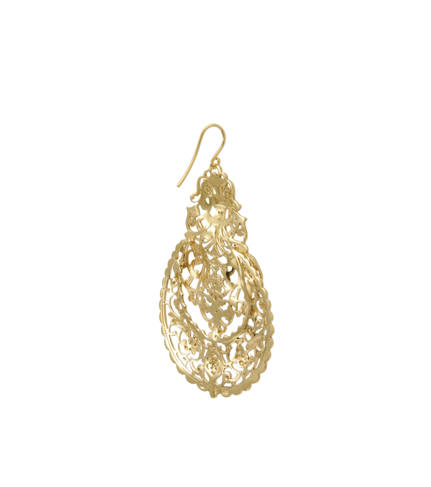 I AM by Ileana Makri(アイ アム バイ イリーナ マクリ)のAntoinette Earrings-GOLD-O489-42-099-2 拡大詳細画像3