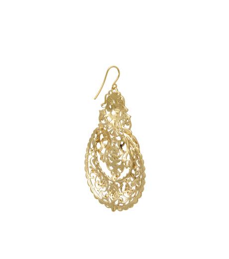 I AM by Ileana Makri(アイ アム バイ イリーナ マクリ)のAntoinette Earrings-GOLD-O489-42-099-2 詳細画像3