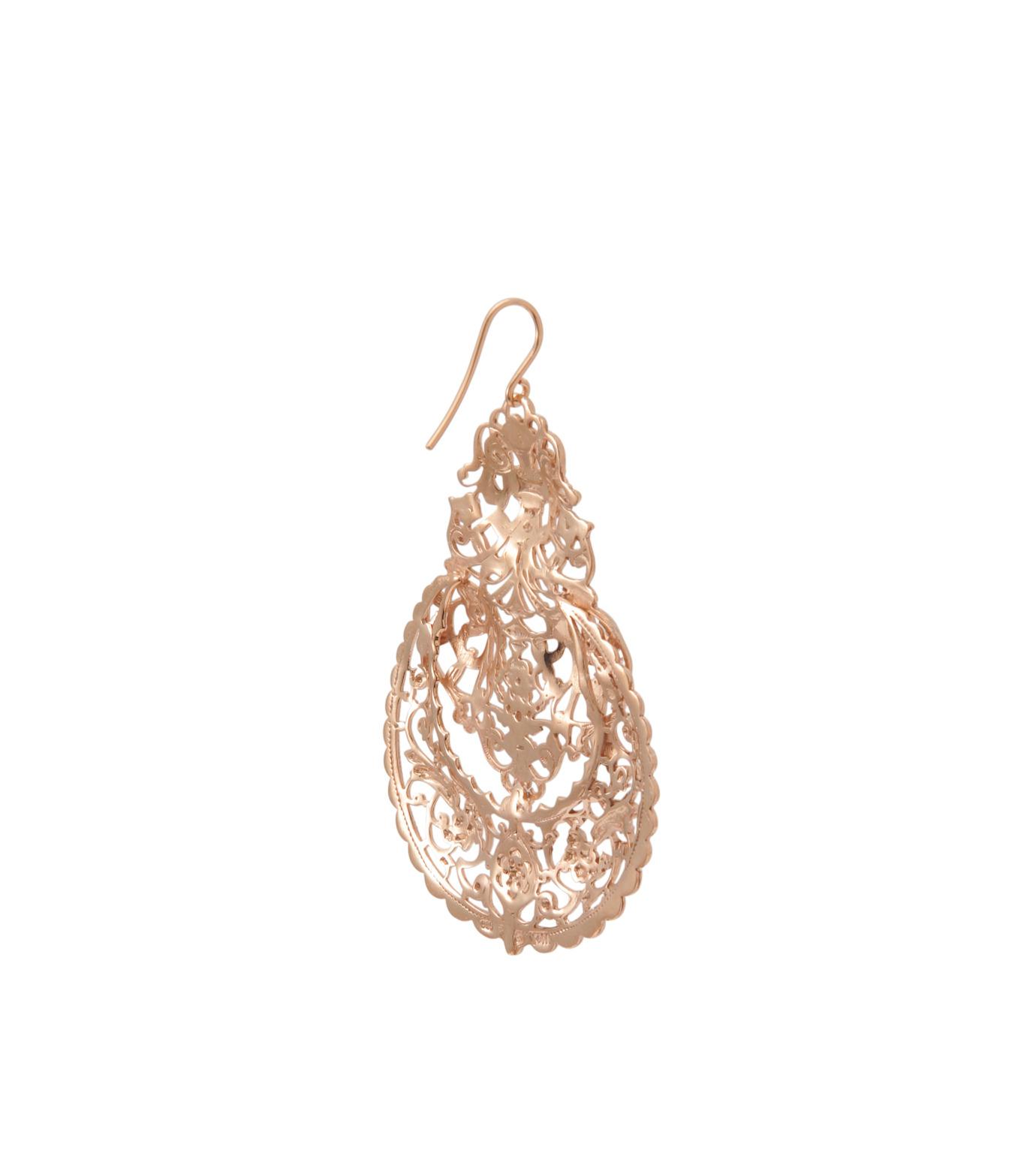 I AM by Ileana Makri(アイ アム バイ イリーナ マクリ)のAntoinette Earrings-ROSE-O489-43-099-75 拡大詳細画像3