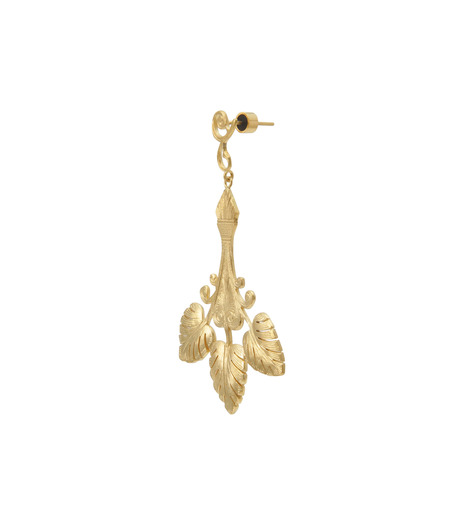 I AM by Ileana Makri(アイ アム バイ イリーナ マクリ)のTriple Golden Leaf Earrings-GOLD-O523-42-099-2 詳細画像2