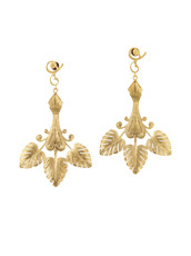 I AM by Ileana Makri(アイ アム バイ イリーナ マクリ) Triple Golden Leaf Earrings