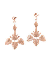 I AM by Ileana Makri Triple Golden Leaf Earrings
