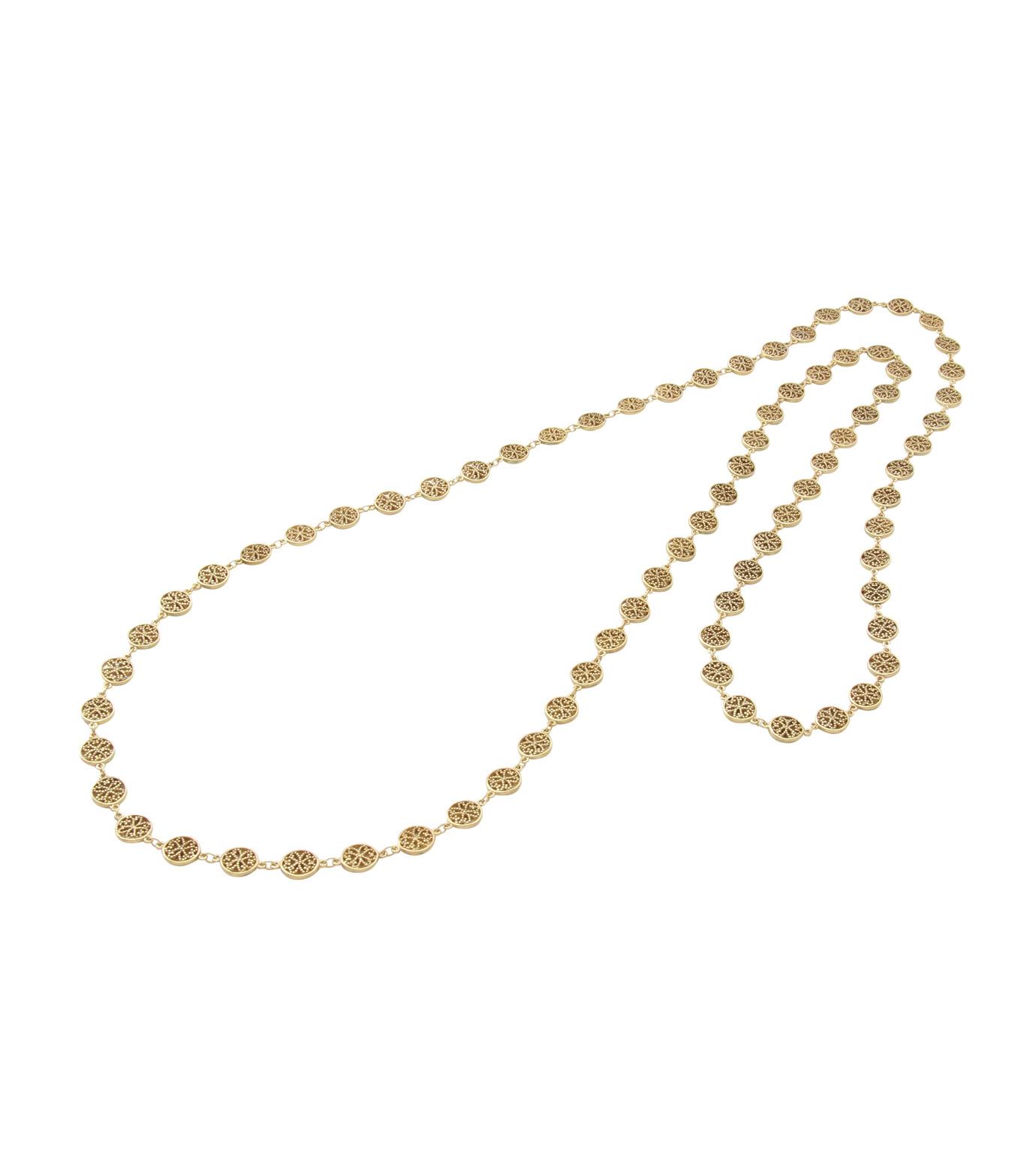 I AM by Ileana Makri(アイ アム バイ イリーナ マクリ)のAntoinette Necklace-GOLD(ネックレス/necklace)-O804-61-099-2 拡大詳細画像2