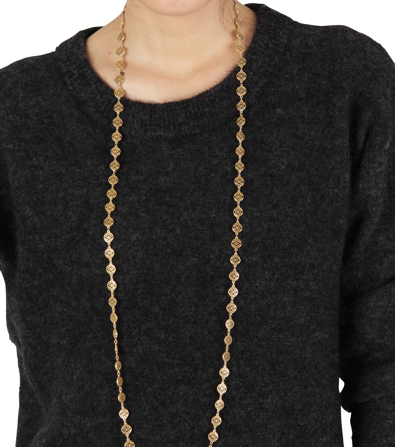 I AM by Ileana Makri(アイ アム バイ イリーナ マクリ)のAntoinette Necklace-GOLD(ネックレス/necklace)-O804-61-099-2 拡大詳細画像3