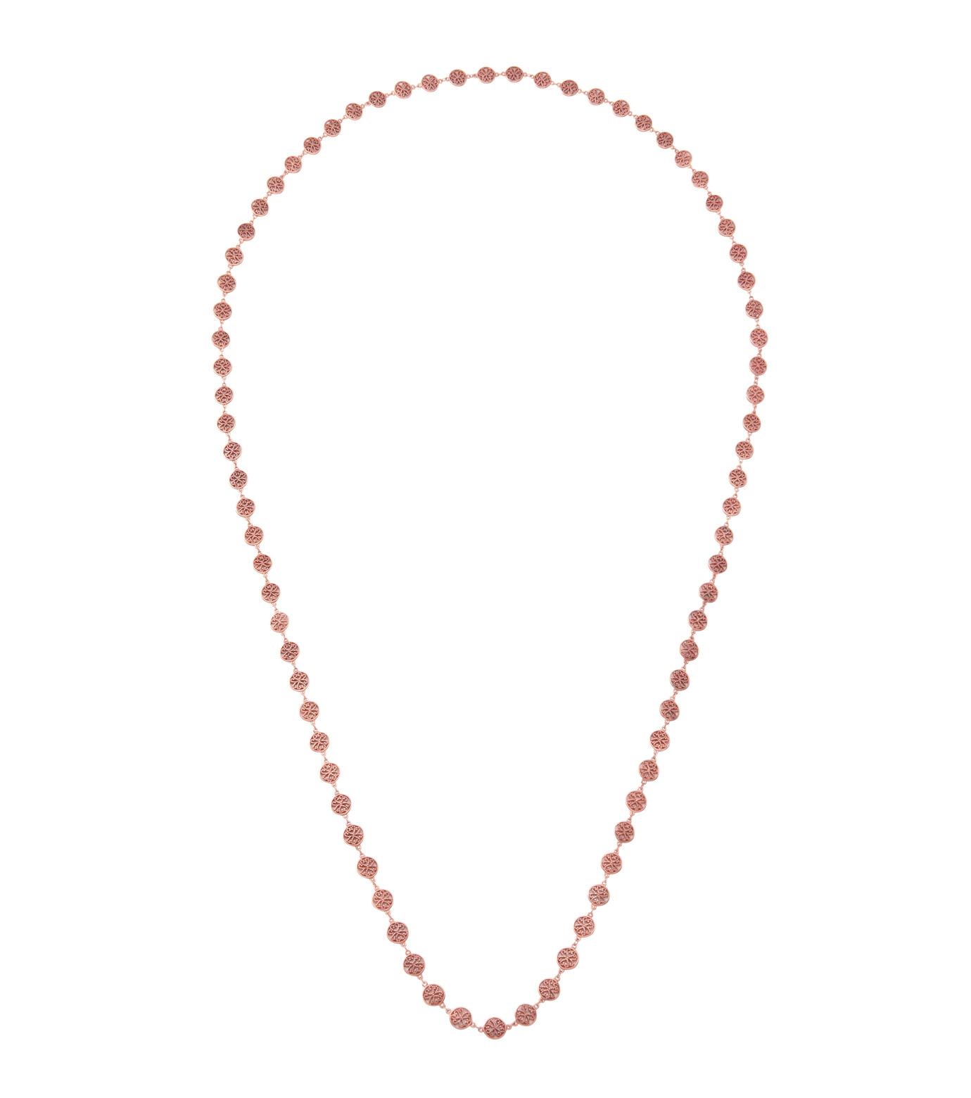 I AM by Ileana Makri(アイ アム バイ イリーナ マクリ)のAntoinette Necklace-ROSE(ネックレス/necklace)-O804-62-099-75 拡大詳細画像1