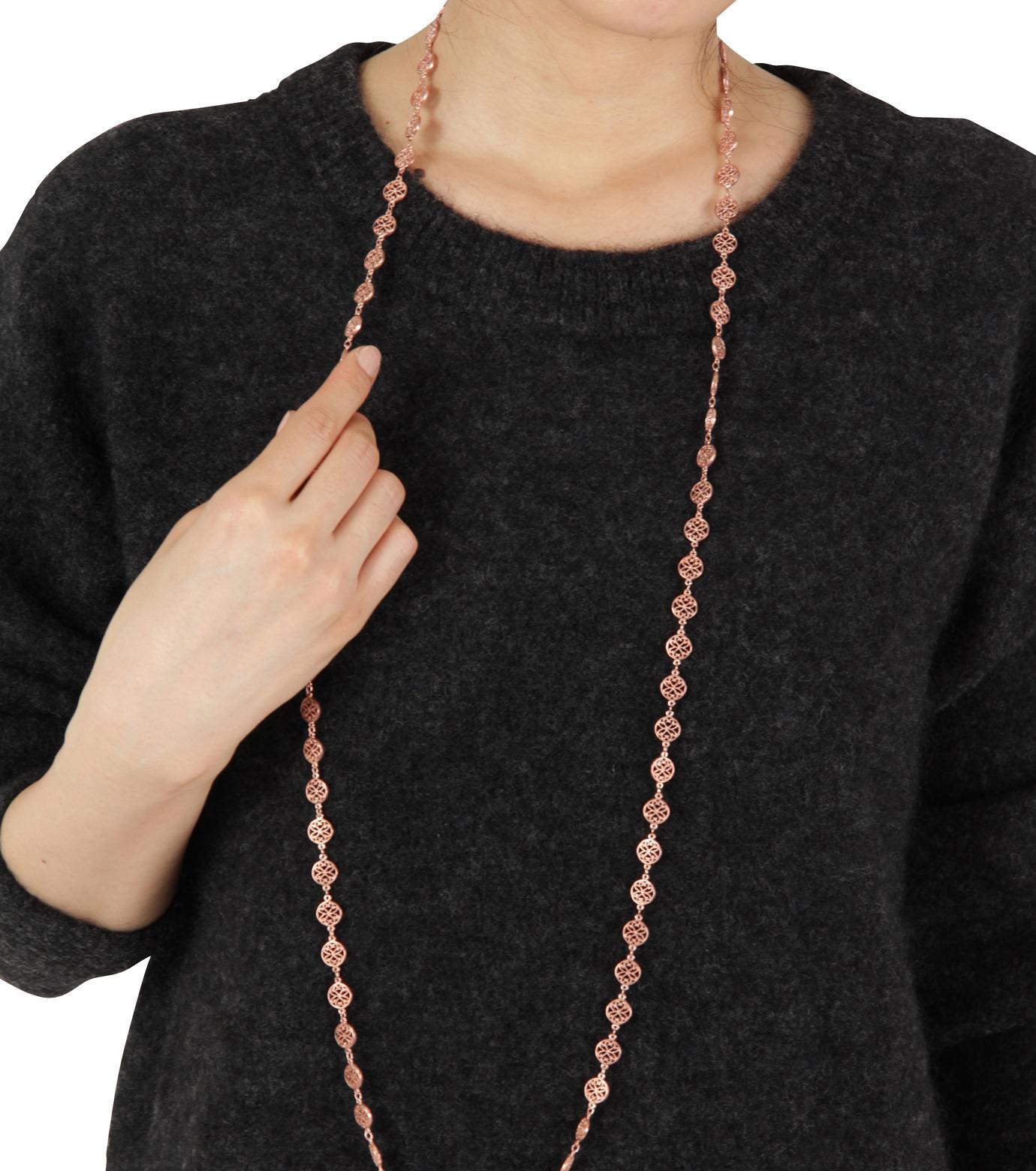 I AM by Ileana Makri(アイ アム バイ イリーナ マクリ)のAntoinette Necklace-ROSE(ネックレス/necklace)-O804-62-099-75 拡大詳細画像3