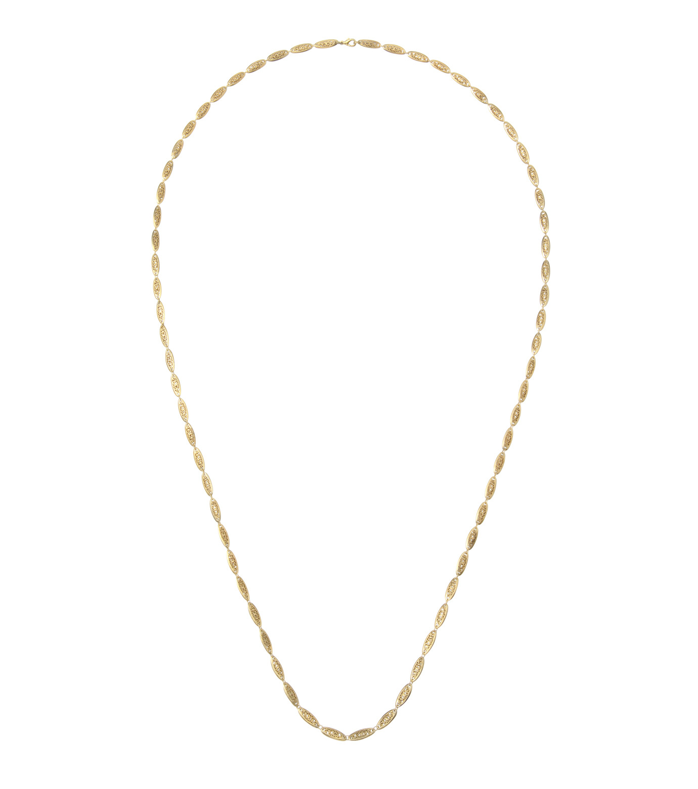 I AM by Ileana Makri(アイ アム バイ イリーナ マクリ)のChantilly Single Necklace Ellipse-GOLD(ネックレス/necklace)-O842-61-099-2 拡大詳細画像1