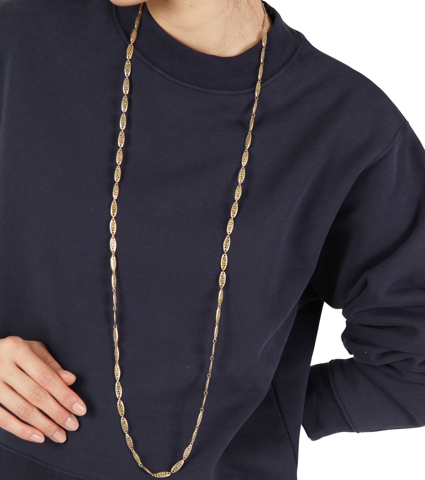 I AM by Ileana Makri(アイ アム バイ イリーナ マクリ)のChantilly Single Necklace Ellipse-GOLD(ネックレス/necklace)-O842-61-099-2 拡大詳細画像3