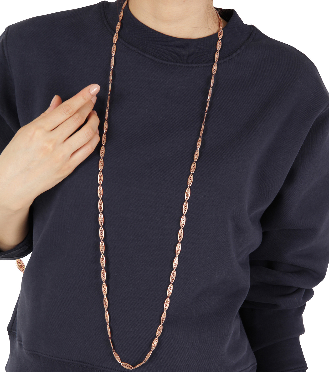 I AM by Ileana Makri(アイ アム バイ イリーナ マクリ)のChantilly Single Necklace Ellipse-ROSE(ネックレス/necklace)-O842-62-099-75 拡大詳細画像3