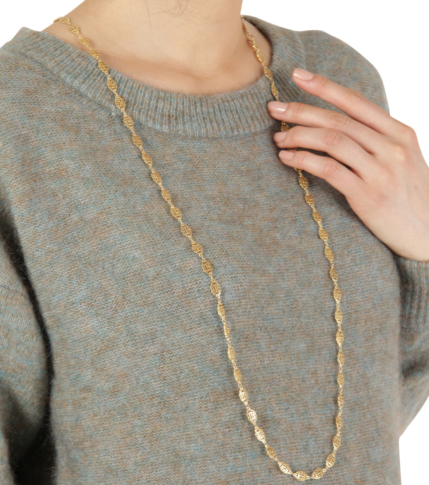 I AM by Ileana Makri(アイ アム バイ イリーナ マクリ)のAntoinette Single Necklace-GOLD(ネックレス/necklace)-O848-61-099-2 拡大詳細画像3