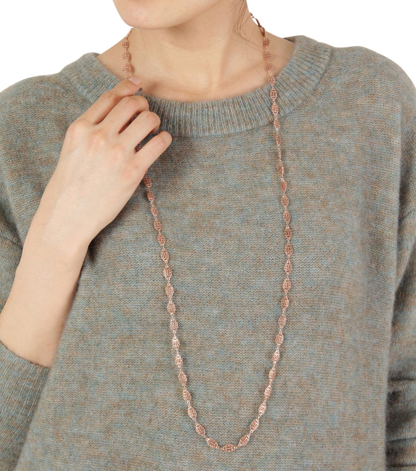 I AM by Ileana Makri(アイ アム バイ イリーナ マクリ)のAntoinette Single Necklace-ROSE(ネックレス/necklace)-O848-62-099-75 拡大詳細画像3