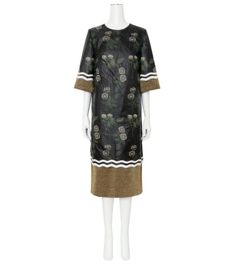 YOHEI OHNO()のNylon Flower Print Shift Dress-BLACK(ワンピース/one piece)-OH-16A-4-DR-13 詳細画像1