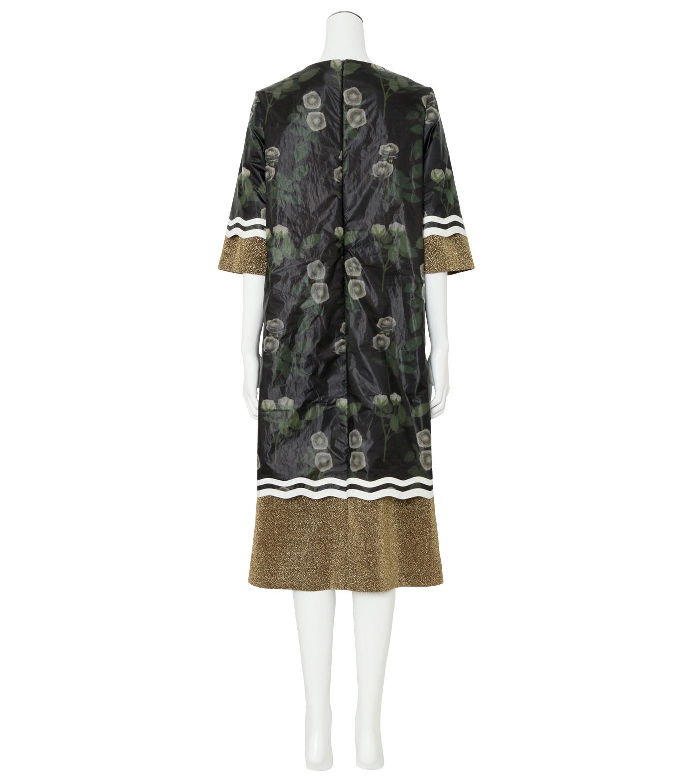 YOHEI OHNO()のNylon Flower Print Shift Dress-BLACK(ワンピース/one piece)-OH-16A-4-DR-13 拡大詳細画像2