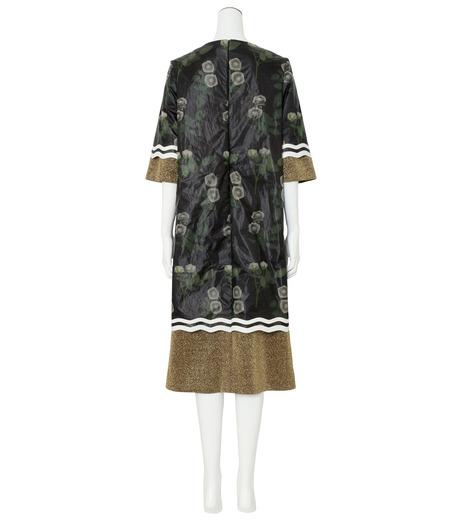 YOHEI OHNO()のNylon Flower Print Shift Dress-BLACK(ワンピース/one piece)-OH-16A-4-DR-13 詳細画像2
