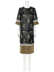 YOHEI OHNO() Nylon Flower Print Shift Dress