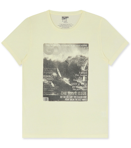 Heddie Lovu(エディー ルーヴ)のOrganic waimea-LIGHT YELLOW(カットソー/cut and sewn)-OT-M1-02-14A-31 詳細画像1