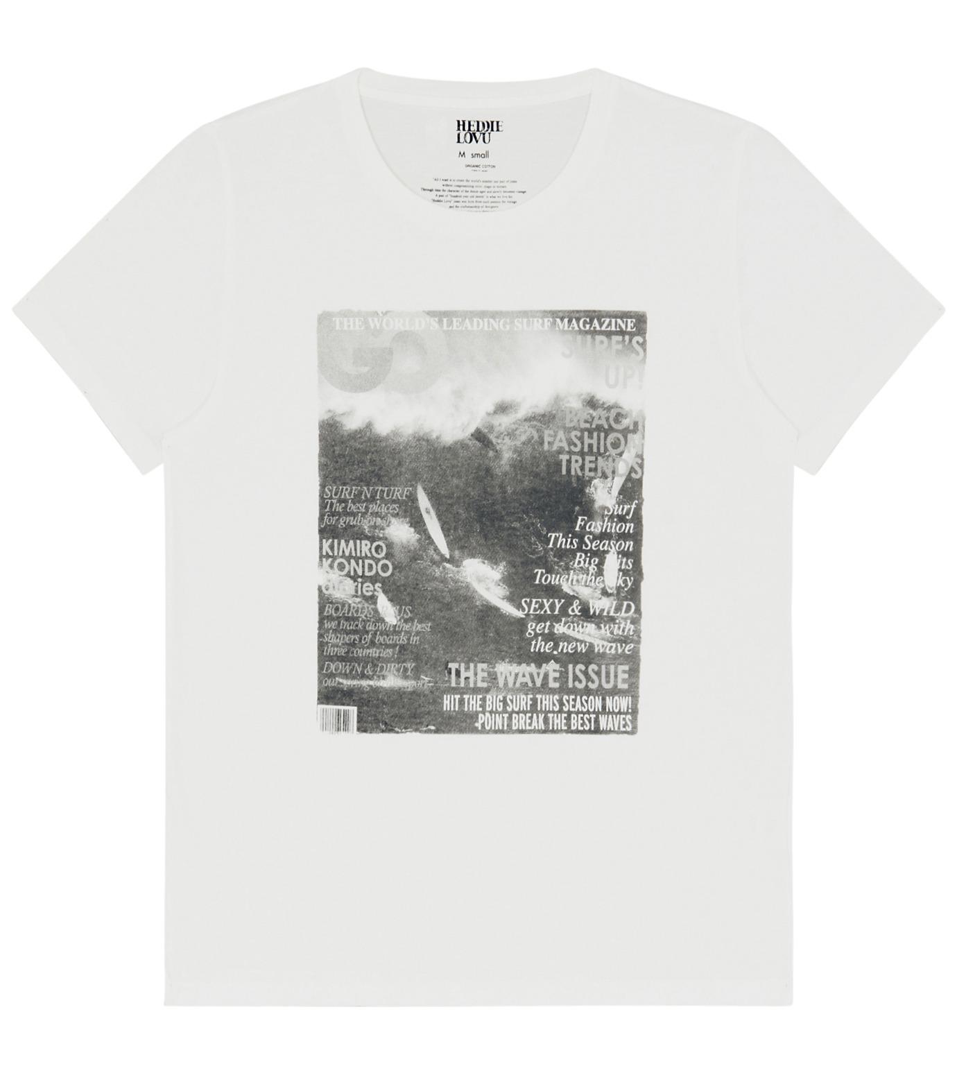 Heddie Lovu(エディー ルーヴ)のOrganic waimea-WHITE(カットソー/cut and sewn)-OT-M1-02-14A-4 拡大詳細画像1