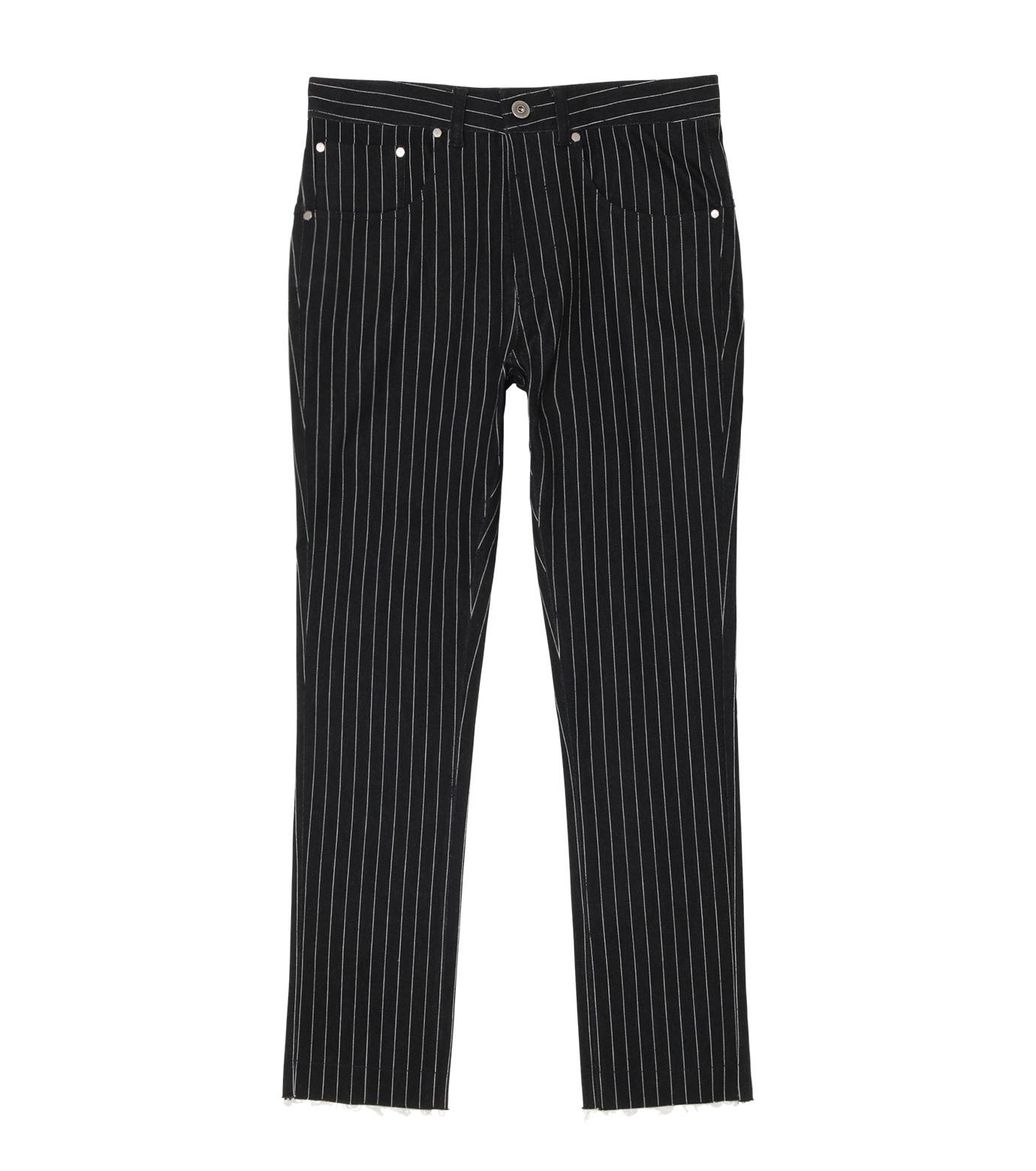 MUNSOO KWON()のStripe Denim Pants-BLACK(デニム/denim)-P089-13 拡大詳細画像1