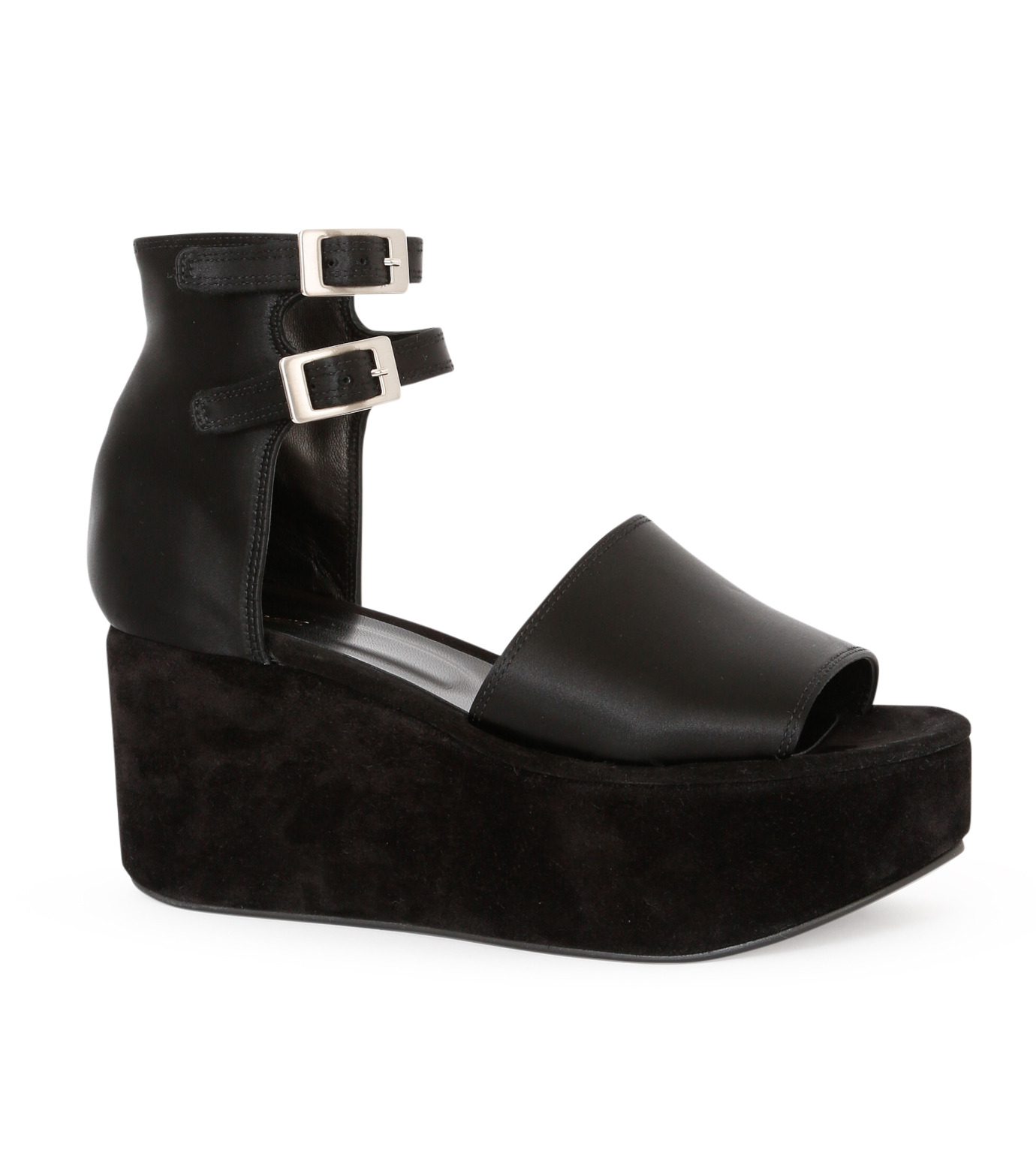 PIPPICHIC(ピッピシック)のSatin Sandal-BLACK(フラットシューズ/Flat shoes)-P16-PAUL25-L 拡大詳細画像1