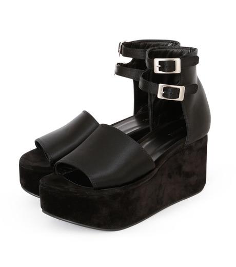 PIPPICHIC(ピッピシック)のSatin Sandal-BLACK(フラットシューズ/Flat shoes)-P16-PAUL25-L 詳細画像2