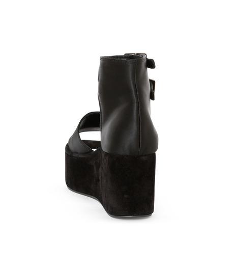 PIPPICHIC(ピッピシック)のSatin Sandal-BLACK(フラットシューズ/Flat shoes)-P16-PAUL25-L 詳細画像3