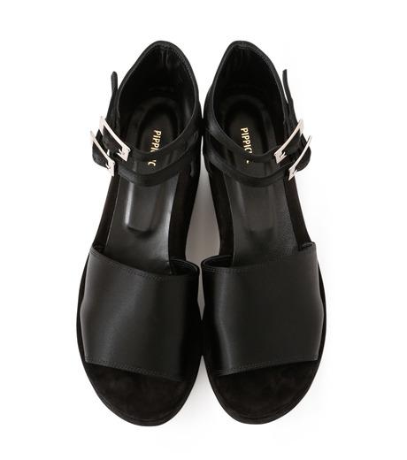 PIPPICHIC(ピッピシック)のSatin Sandal-BLACK(フラットシューズ/Flat shoes)-P16-PAUL25-L 詳細画像4