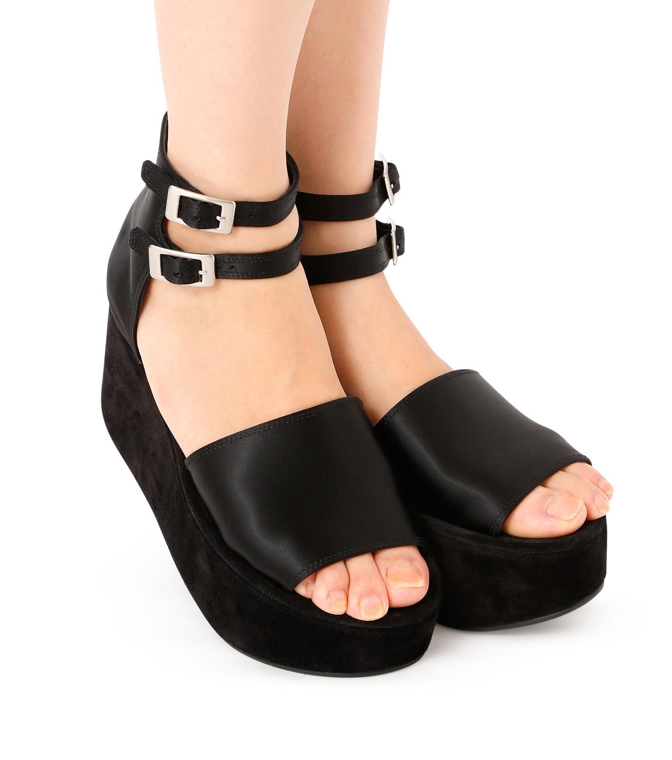 PIPPICHIC(ピッピシック)のSatin Sandal-BLACK(フラットシューズ/Flat shoes)-P16-PAUL25-L 拡大詳細画像5