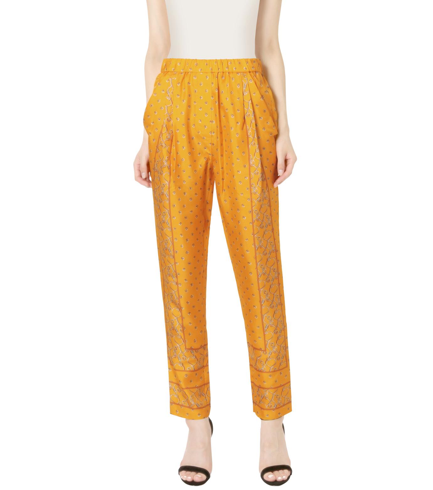3.1 Phillip Lim(スリーワン フィリップリム)のScarf Print Tapered Trouser-YELLOW(パンツ/pants)-P161-5447BKP-32 拡大詳細画像1