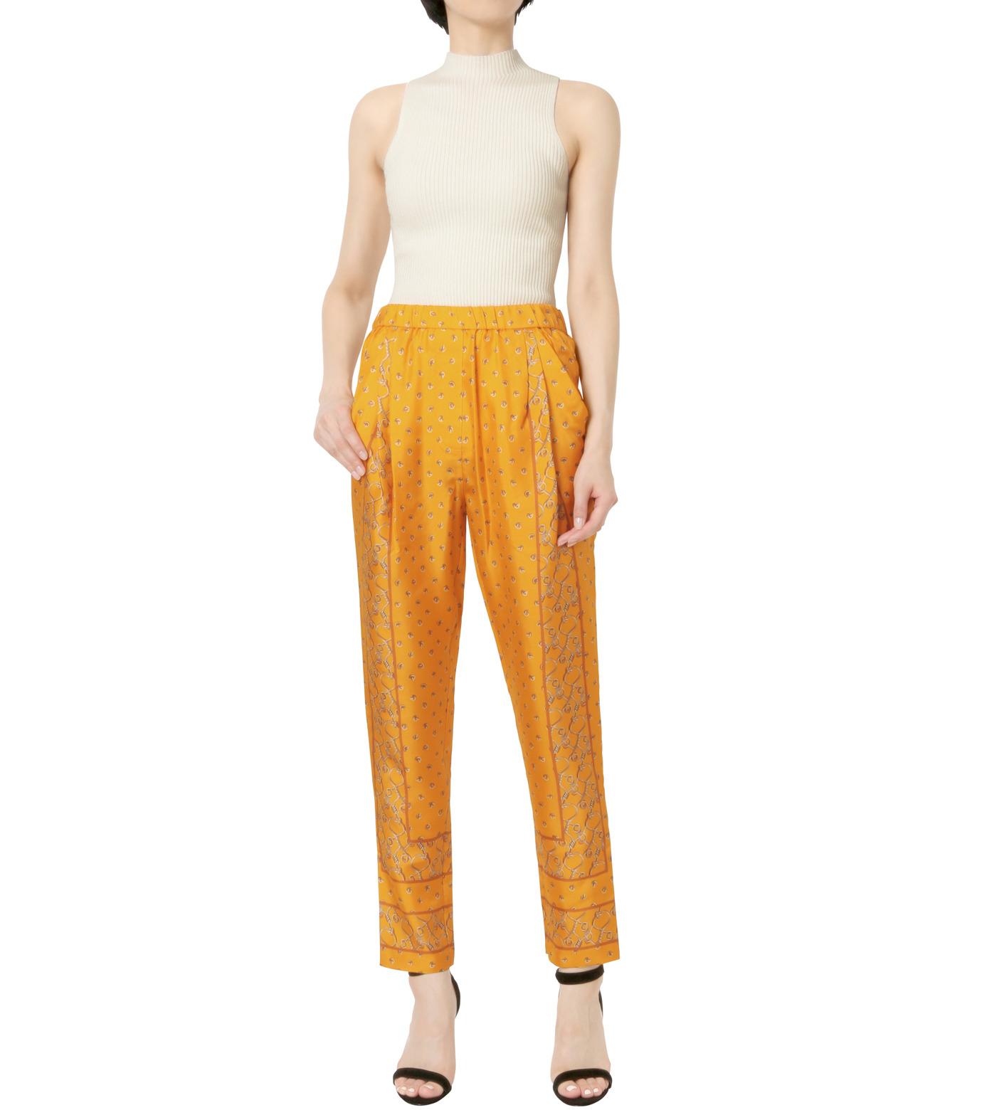 3.1 Phillip Lim(スリーワン フィリップリム)のScarf Print Tapered Trouser-YELLOW(パンツ/pants)-P161-5447BKP-32 拡大詳細画像3