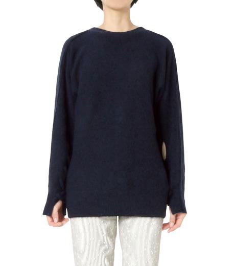 3.1 Phillip Lim(スリーワン フィリップリム)のLS Sweater w/Back V&Knots-NAVY(ニット/knit)-P161-7631PCY-93 詳細画像1